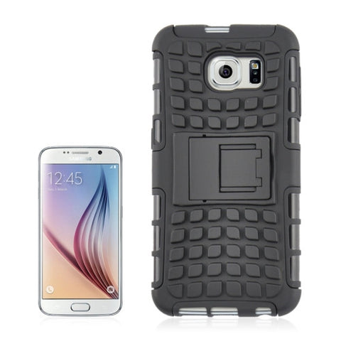 2 in 1 Tyre Texture Back Cover Protective Case with Holder for Samsung Galaxy S6(Black) Samsung Cases - MEGA Discount Online Store Ghana