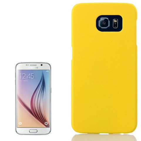 Buy Online  Pure Colour UV Anti-scratch PC Protective Cover for Samsung Galaxy S6 / G920(Yellow) Samsung Cases - MEGA Discount Online Store Ghana