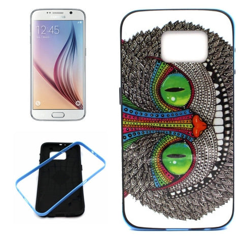 Buy Online  Samsung Galaxy S6 / G920 Cheshire Cat Pattern Plastic Protective Case with Frame Samsung Cases - MEGA Discount Online Store Ghana
