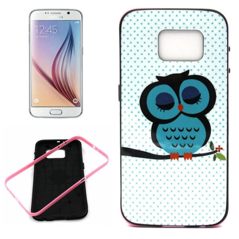 Buy Online  Samsung Galaxy S6 / G920 Owl Pattern Plastic Protective Case with Frame Samsung Cases - MEGA Discount Online Store Ghana