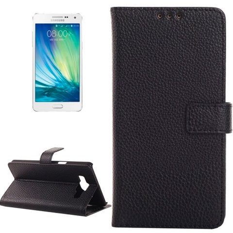 Litchi Texture Horizontal Flip Magnetic Buckle Leather Case with Card Slots & Wallet & Holder for Samsung Galaxy A3(Black) Samsung Cases - MEGA Discount Online Store Ghana