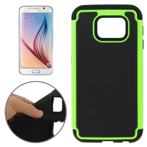 Buy Online  Samsung Galaxy S6 Football Texture PC + TPU Contrast Color Combination Case (Black + Green) Samsung Cases - MEGA Discount Online Store Ghana