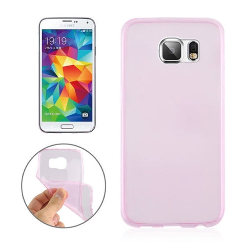 Buy Online  0.3mm Ultra-thin Transparent TPU Protective Cover for Samsung Galaxy S6 Edge / G925(Pink) Samsung Cases - MEGA Discount Online Store Ghana