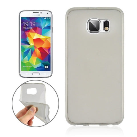 Buy Online  0.3mm Ultra-thin Transparent TPU Protective Cover for Samsung Galaxy S6 Edge / G925(Grey) Samsung Cases - MEGA Discount Online Store Ghana