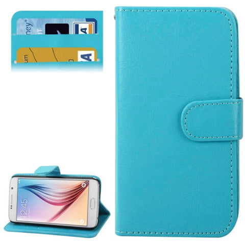 Crazy Horse Texture Horizontal Flip Leather Cover with Card Slots & Holder for Samsung Galaxy S6 / G920(Blue) Samsung Cases - MEGA Discount Online Store Ghana