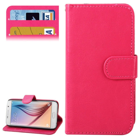 Crazy Horse Texture Horizontal Flip Leather Cover with Card Slots & Holder for Samsung Galaxy S6 / G920(Magenta) Samsung Cases - MEGA Discount Online Store Ghana