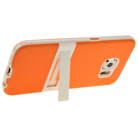 Buy Online  Frosted Surface TPU Protective Cover with Plastic Holder for Samsung Galaxy S6 / G920(Orange) Samsung Cases - MEGA Discount Online Store Ghana