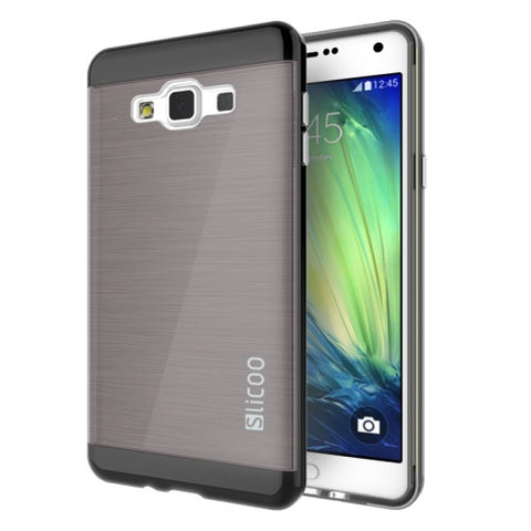 Buy Online  Slicoo Brushed Texture Electroplating Combination Case for Samsung Galaxy A5 / A500(Black) Samsung Cases - MEGA Discount Online Store Ghana