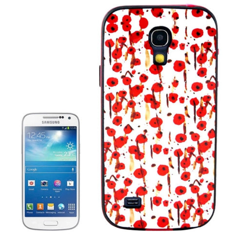 Cherry Pattern Plastic Frame TPU Back Cover Protective Case for Samsung Galaxy S4 Mini / i9190 Samsung Cases - MEGA Discount Online Store Ghana