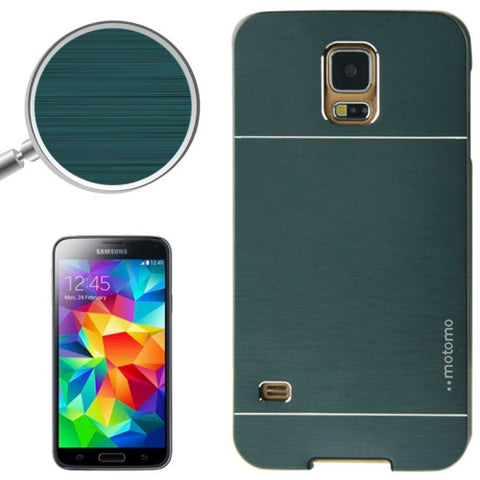 Buy Online  2 in 1 Brushed Texture Metal & Plastic Protective Cover for Samsung Galaxy S5 (Deep Green) Samsung Cases - MEGA Discount Online Store Ghana