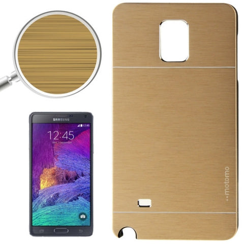 2 in 1 Brushed Texture Metal & Plastic Protective Cover for Samsung Galaxy Note 4 / N910(Gold) Samsung Cases - MEGA Discount Online Store Ghana