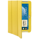 Buy Online  3-fold Litchi Texture Leather Cover with Holder for Samsung Galaxy Note (10.1) / N8000 / N8010 (Yellow) Samsung Cases - MEGA Discount Online Store Ghana