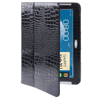 Buy Online  Crocodile Texture Leather Cover with Holder for Samsung Galaxy Note (10.1) / N8000 / N8010 (Black) Samsung Cases - MEGA Discount Online Store Ghana