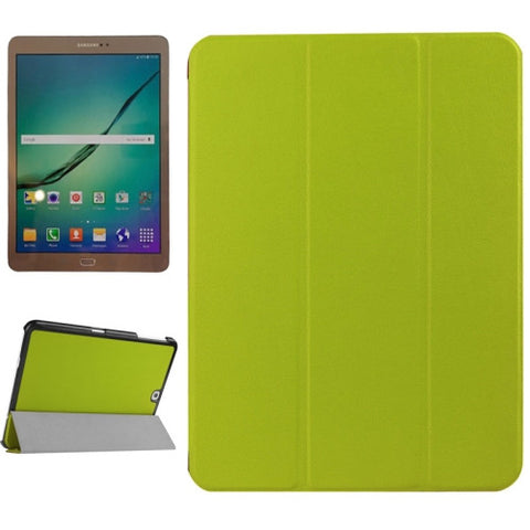 Karst Texture Horizontal Flip Solid Color Leather Case with Three-Folding Holder for Samsung Galaxy Tab S2 9.7 / T815(Green) Samsung Cases - MEGA Discount Online Store Ghana