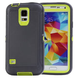 Buy Online  Shockproof TPU + Plastic Combination Cover for Samsung Galaxy S5 / G900 (Dark Grey + Green) Samsung Cases - MEGA Discount Online Store Ghana