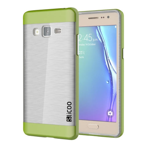 Slicoo for Samsung Z3 Brushed Texture Transparenct Electroplating TPU + PC Combination Case (Green) Samsung Cases - MEGA Discount Online Store Ghana