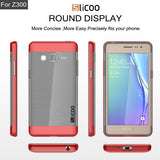 Slicoo for Samsung Z3 Brushed Texture Electroplating TPU + PC Combination Case (Red) Samsung Cases - MEGA Discount Online Store Ghana
