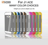 Buy Online  Slicoo Brushed Texture Electroplating PC + TPU Combination Case for Samsung Galaxy J1 Ace / J110(Black) Samsung Cases - MEGA Discount Online Store Ghana