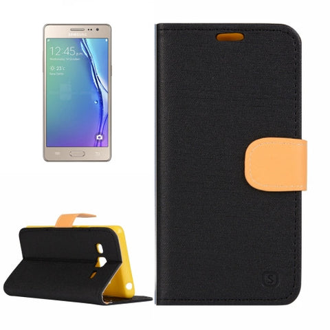 Samsung Z3 Tizen Denim Texture Horizontal Flip Solid Color Leather Case with Holder & Card Slots & Wallet (Black) Samsung Cases - MEGA Discount Online Store Ghana