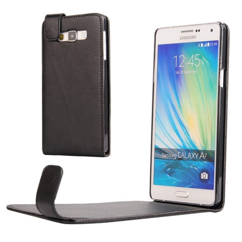 Vertical Flip Magnetic Snap Leather Case for Samsung Galaxy A7 / A700F(Black) Samsung Cases - MEGA Discount Online Store Ghana