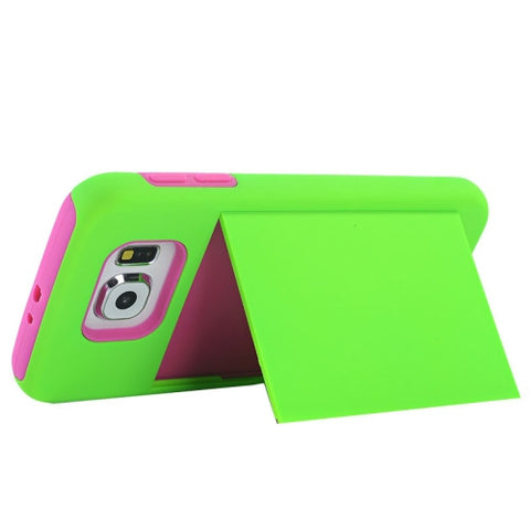 Buy Online  Silicone PC Combination Cover with Holder & Card Slots for Samsung Galaxy S6 / G920(Green) Samsung Cases - MEGA Discount Online Store Ghana