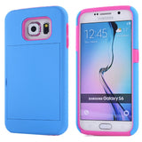 Buy Online  Silicone PC Combination Cover with Holder & Card Slots for Samsung Galaxy S6 / G920(Blue) Galaxy S6 Covers - MEGA Discount Online Store Ghana