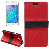 Crazy Horse Texture Color Matching Flip Leather Case with Holder & Card Slots & Wallet for Samsung Galaxy J7(Red) Samsung Cases - MEGA Discount Online Store Ghana