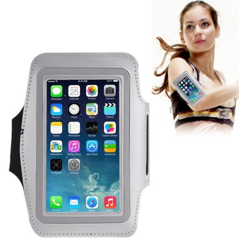 Buy Online  Universal PU Sports Armband Case with Earphone Hole for iPhone 7 / iPhone 6 / Samsung Galaxy S IV / i9500 / S III / i9300(Silver) Universal Cases - MEGA Discount Online Store Ghana