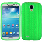 Buy Online  Pure Color Tyre Texture Silicone Cover for Samsung Galaxy S IV / i9500(Green) Samsung Cases - MEGA Discount Online Store Ghana
