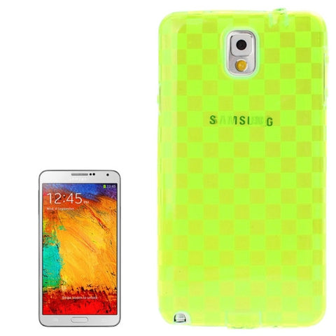 Buy Online  Grid Pattern Translucent TPU Protective Cover with Anti-dust Plug for Samsung Galaxy Note III / N9000 (Fluorescent Green) Samsung Cases - MEGA Discount Online Store Ghana