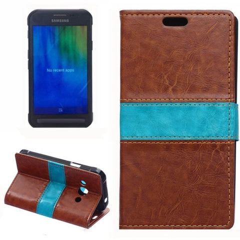 Crazy Horse Texture Color Matching Flip Leather Case with Holder & Card Slots & Wallet for Samsung Galaxy Xcover 3 / G388F(Brown) Samsung Cases - MEGA Discount Online Store Ghana