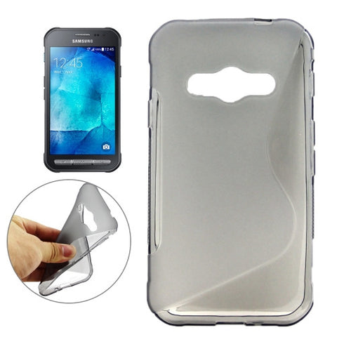 Samsung Galaxy Xcover 3 / G388F S-Shaped Frosted TPU Case (Grey) Samsung Cases - MEGA Discount Online Store Ghana
