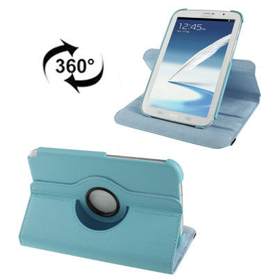 Buy Online  360 Degree Rotatable Litchi Texture Leather Cover with Holder for Samsung Galaxy Note 8.0 / N5100 (Blue) Samsung Cases - MEGA Discount Online Store Ghana