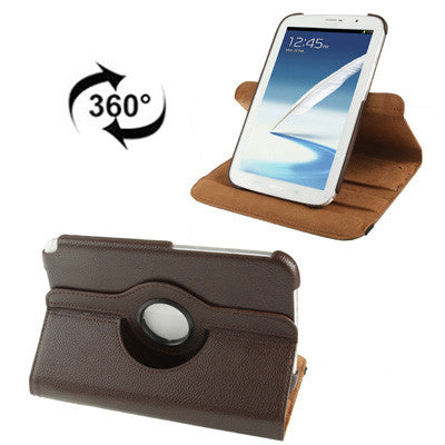 Buy Online  360 Degree Rotatable Litchi Texture Leather Cover with Holder for Samsung Galaxy Note 8.0 / N5100 (Coffee) Samsung Cases - MEGA Discount Online Store Ghana