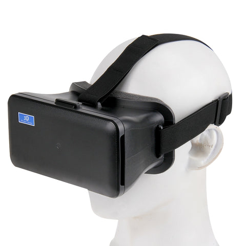 NJ-1688C DIY 3D Cardboard Head Mount Plastic Virtual Reality 3D Video Glasses for iPhone 6 Plus / Galaxy Note 4 / 3 etc. 5.5 inch - 6.3 inch Android iOS Smartphone