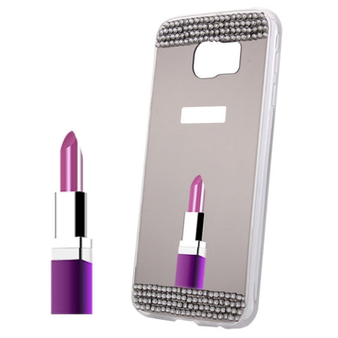 Diamond Encrusted Mirror TPU Protective Case for Samsung Galaxy Note 5 / N920(Grey) Samsung Cases - MEGA Discount Online Store Ghana