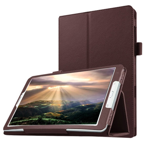 Buy Online  Litchi Texture Horizontal Flip Solid Color Leather Case with Holder for Samsung Galaxy Tab E 8.0 / T377V(Brown) Samsung Cases - MEGA Discount Online Store Ghana