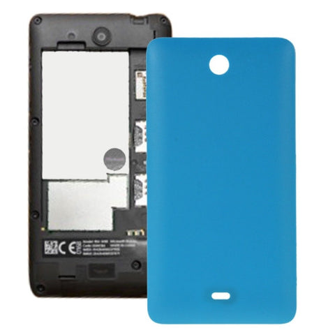 size 40 cb83c 1aebd Frosted Surface Plastic Back Housing Cover for Microsoft Lumia 430(Blue)