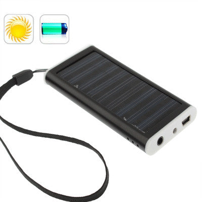 Buy Online  1350mAh Solar Charger for Mobile phone, Digital camera, PDA, MP3/MP4 Player (Black) Power Banks & Solar - MEGA Discount Online Store Ghana