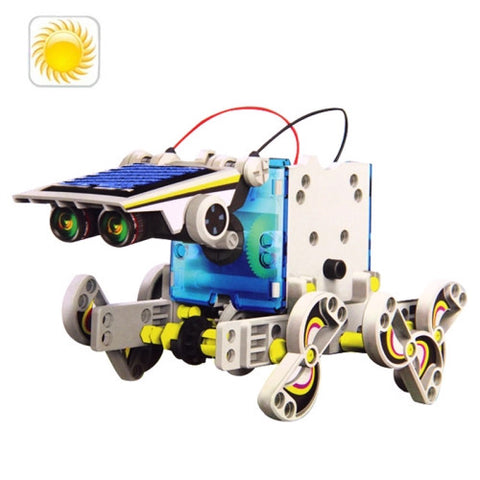 Buy Online  14 in 1 DIY Solar Powered Robot Plastic Block Assembling Puzzle Building Game Power Banks & Solar - MEGA Discount Online Store Ghana