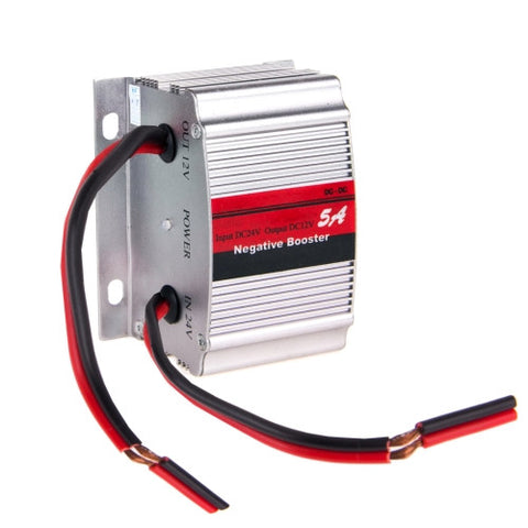 Buy Online  SUVPR RF-5A DC 24V to 12V Car Power Inverter Adapter Negative Booster Convert(Silver) Car Accessories - MEGA Discount Online Store Ghana