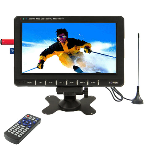 9.8 inch Wide LCD mini monitor/Analog TV with FM Radio, Support SD/MMC Card, USB flash disk(Black) Electrotools & Handtools - MEGA Discount Online Store Ghana