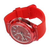 Buy Online  Classic Round Style Quartz Wrist Watch with Silicone Band (Red) Watches - MEGA Discount Online Store Ghana