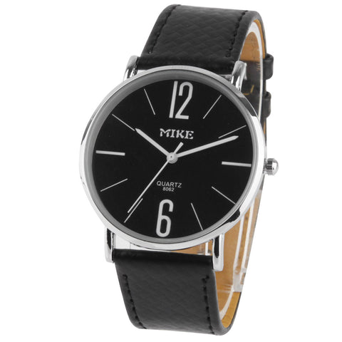 Black Dial Men Quartz Leather Watch / Couple Watch (8062) Watches - MEGA Discount Online Store Ghana