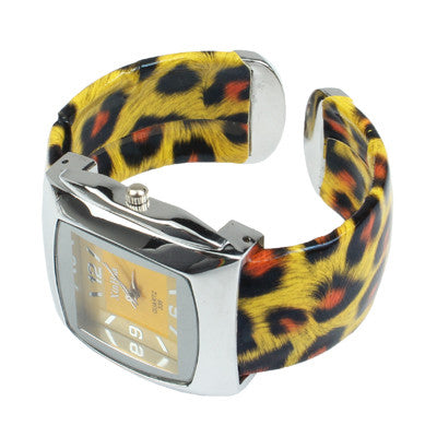 Buy Online  Fashion Leopard Print Style Steel Quartz Bracelet Wrist Watch Watches - MEGA Discount Online Store Ghana