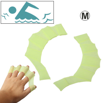 Buy Online  Middle Size Finger Flexible Silicone Swimming Gloves(Green) Sports - MEGA Discount Online Store Ghana