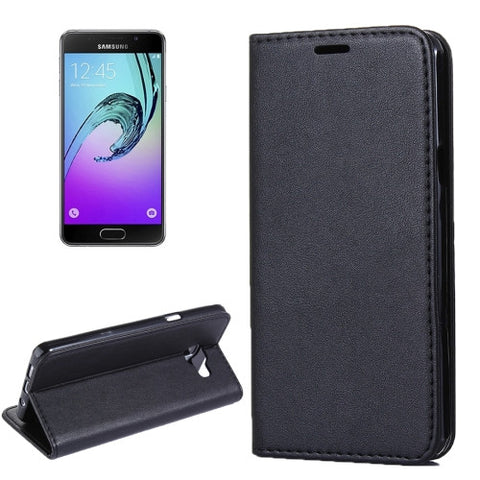 Samsung Galaxy A3(2016) / A310 Lambskin Texture Horizontal Flip Magnetic Leather Case with Holder and Card Slot(Black) Samsung Cases - MEGA Discount Online Store Ghana