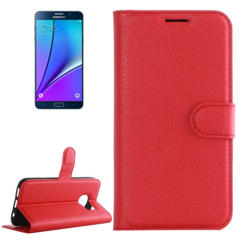 Buy Online  Samsung Galaxy Note 5 / N920 Litchi Texture Horizontal Flip Leather Case with Holder & Card Slots & Wallet(Red) Samsung Cases - MEGA Discount Online Store Ghana