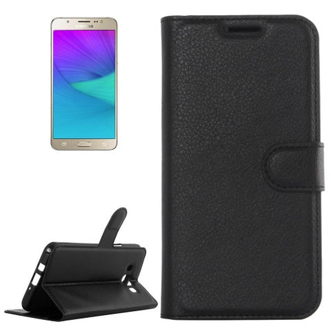 Buy Online  Samsung Galaxy J5 (2016) / J510 Litchi Texture Horizontal Flip Leather Case with Holder & Card Slots & Wallet(Black) Samsung Cases - MEGA Discount Online Store Ghana