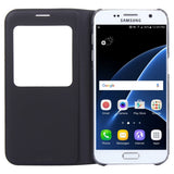 Buy Online  Samsung Galaxy S7 / G930 Horizontal Flip Leather Case with Call Display ID(Black) Samsung Cases - MEGA Discount Online Store Ghana